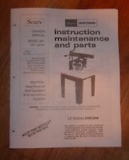 SEARS CRAFTSMAN 12 INCH RADIAL ARM SAW OWNERS MANUAL 901.23181 23181