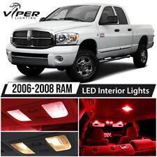 2006-2008 Dodge RAM 1500 2500 3500 Red LED Interior Lights Package Kit