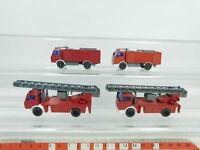 BD351-0,5# 4x Wiking H0/1:87 Feuerwehr/FW-MB: 618 Drehleiter+Löschfahrzeug, NEUW