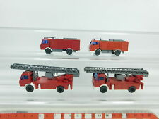 bd351-0,5 #4x WIKING H0/1:87 Pompieri / fw-mb : 618 Scaletta GIREVOLE + Camion