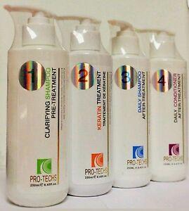 Keratin Treatment, Hair Straightener,Brazilian Blowout 8.45 oz / 240 ml x 4
