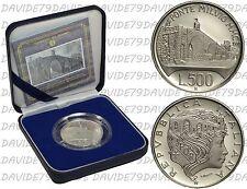 REPUBBLICA ITALIANA 1991 - 500 LIRE D'ARGENTO - PONTE MILVIO - PROOF