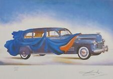 SALVADOR DALI Clothed Cars - 1941 Cadillac HAND NUMBERED PLATE SIGNED LITHOGRAPH