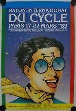 Affiche SALON du CYCLE 1989 illustr.KUBIK