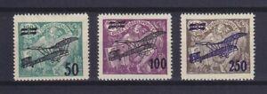 CZECHOSLOVAKIA 1922, AIR MAIL, Mi 199-201, MLH