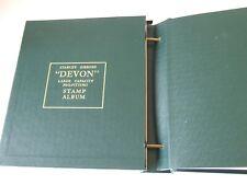 STANLEY GIBBONS GREEN DEVON HI-CAPACITY 2-PEG STAMP ALBUM EXCELLENT CONDITION