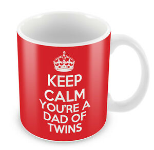 KEEP CALM You're a Dad of Twins Mug - Coffee Cup Gift Idea present mother