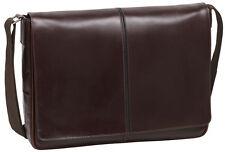 Johnston & Murphy Union Station Leather Messenger Bag Dark Chestnut 46-15590