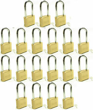 Lock Brass Master Combination #175LH (Lot of 19) Long Shackle Resettable Secure