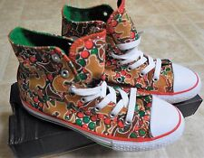 Youth Girls Converse Shoes Print High-Top Sneakers Size 2 New Super Cute