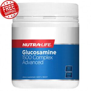 Nutra Life Glucosamine 1500 Complex Advanced Glucosamine Sulfate 180 Tablets