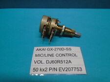 Akai GX-270D-SS MIC/LINE Control VOL. DJ60R512A 50 kx2 Used