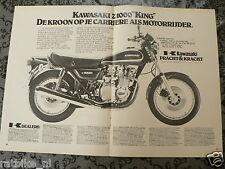 A158- KAWASAKI Z1000 KING 1978 POSTER ADVERTISEMENT ADD MOTORCYCLE