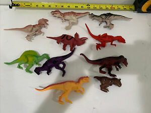 Dinosaurs Toy Figures T-Rex & More Rubber lot of 10