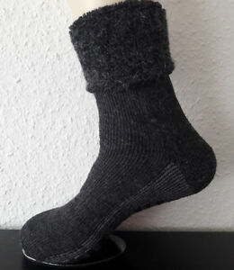 Ladies ABS Stopper Socks with Cover Wool And Alpaca Wool Anthra 35 To 42
