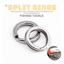 50/100Pcs Stainless Steel Fishing Solid Snap Split Ring Lure Tackle Connector