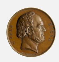 s1165_2) Medaglia Giovanni Nigra 1864 Banchiere e Politico Op: Borrel