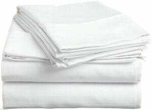 "1000 TC Egyptian Cotton 15"" Deep Pocket Bedding Item UK All Sizes &Solid White"