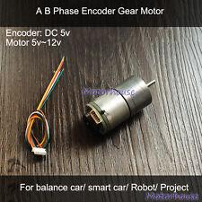 Gear Motor DC 5v Encoder 260 line P/R Geschwindigkei for Balance Smart Car Robot