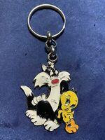 NEW!  Vintage Tweety & Sylvester Looney Tunes Key Chain Warner Bros