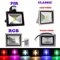 10W 20W 30W 50W PIR RGB LED Security Flood Spot Light Outdoor Warm Cool White AC