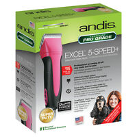 Andis Excel + 5-Speed Fuchsia Detachable Blade Clipper Super Duty 65355