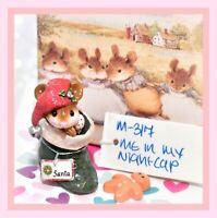 ❤️Wee Forest Folk Me In My Nightcap M-317 Christmas Green Stocking Santa WFF❤️