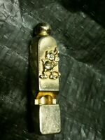 Vintage Disney Mickey Mouse Gold Tone Whistle Necklace Charm. *Whistle Only*