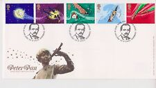 Risolte tallents House PMK GB Royal mail FDC 2002 Peter Pan Timbro Set