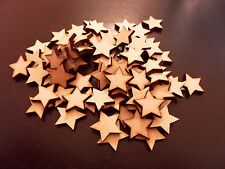 100x wooden stars 10mm mdf Craft Decoration Blank Laser Cut 3Mm Thick wood Mdf