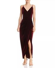 Aqua Womens Red Lace Sleeveless High Neck Midi Dress S BHFO 0541