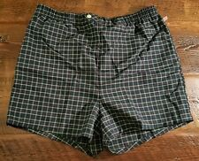 Men's vintage Jantzen swim trunks shorts EUC size 42 navy blue plaid