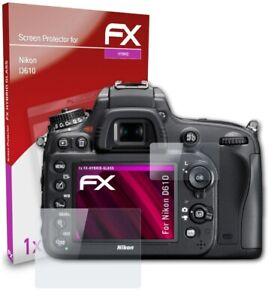 atFoliX Glasfolie für Nikon D610 Panzerfolie 9H Schutzpanzer Displayschutzfolie