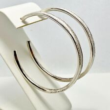 New! $1195 Ippolita Venzia Links Sterling Silver Diamond Hoop Earrings (6870)
