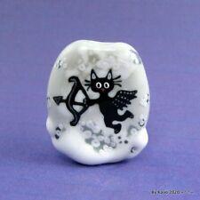 """CUPID"" a handmade lampwork glass SWEET KITTY CAT pendant focal bead byKayo SRA"