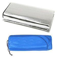 Foil Outdoor Park Picnic Grass Blanket Camping Hiking Sleeping Mat Pad Aluminum
