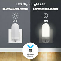 Plug-in LED Night Light Automatic Sensor Bedroom Wall Lamp Lighting-control Auto