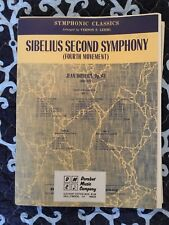 SYSMPHONIC CLASSICS - SIBELIUS SECOND SYMPHONY-ORCHESTRA -SHEET MUSIC