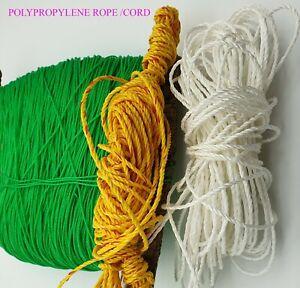 POLYPROPYLENE NYLON STRING ROPE GARDENING ROOFING TRAILER CORD SASH DIY CRAFT