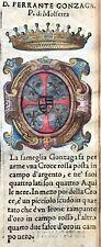 1586 ARALDICA STEMMA FAMIGLIA FERRANTE GONZAGA MOLFETTA Regno di Napoli