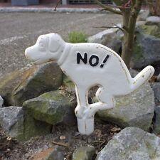 """Hunde-Verbotsschild """"Kein Hundeklo"""" Einstecker Hundehaufen Hundekot a. Gusseisen"""