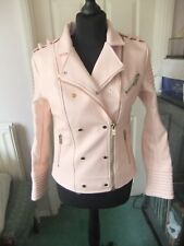 HOUSE OF CB Faux Leather Jacket Pale Pink Medium Brand New No Tags