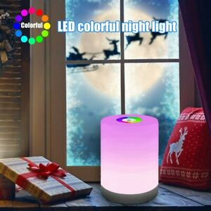 Touch LED Night Light Bedside Desk RGB Lamp Table Mood USB Dimmable Rechargeable