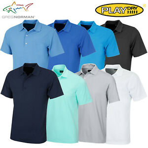 Greg Norman Play Dry Men's Protek Micro Pique Golf Polo Shirt - NEW! *REDUCED*