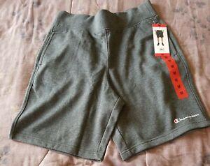 Champion - Mens Heathered Gray Terry Cloth Shorts W/ Pockets Size Medium - NWT