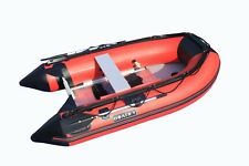 SALES!8.9 ft Inflatable Boat Raft  Dinghy Pontoon Boat WITH Aluminum FLOOR-Red