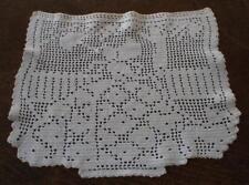 "Vintage Filet Crochet Lace Centerpiece Doily Crinoline Lady Garden 13"""