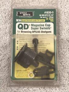 NOS UNCLE MIKE'S QD MAGAZINE CAP SUPER SWIVELS BROWNING BPS/A5 SHOTGUNS #1830-5