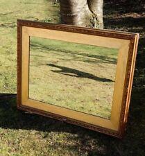 Gilt mirror,Large antique mirror, gilt frame, old picture frame, Victorian