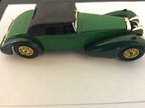 Matchbox models of yesteryear Y17-1 1938 Hispano suizaGreen as new used no box